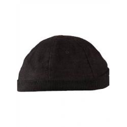 Bonnet boule marin coton épais noir brooklyn unisexe Serie-Graffic