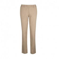 Pantalon droit stretch braguette zipée 56-42 coton-polyester 2% spandex 230 grs-m2 Chino femme NF533 Alexandra