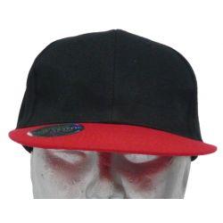 Casquette à visière plate noire coton épais Face Cap unisexe SFL Serie-Graffic