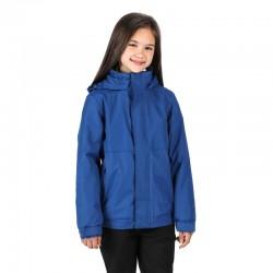 Blouson imperméable solide capuche col doublé polaire 220 grs-m2 Dover enfant (3 à 12 ans) Regatta
