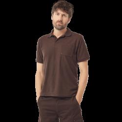 Polo de travail manches courtes 3 boutons poche poitrine 65-35 polyester-coton 210 grs-m2 Leo homme Herock
