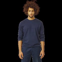 Tee-shirt de travail manches longues col rond coupe droite coton 190 grs-m2 Noet homme Herock
