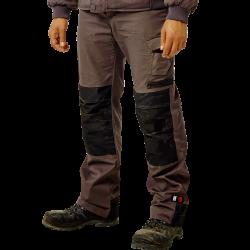 Pantalon de travail multipoches renforcé genouillères déperlant polycoton 230 grs-m2 Mars homme Herock