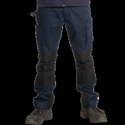 Pantalon de travail multipoches genouillères déperlant en solide polycoton 280 grs-m2 Titan homme Herock
