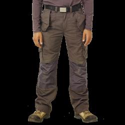 Pantalon multipoches à genouillères + poches à clous fixes robuste polycoton 260 grs-m2 Dagan homme Herock