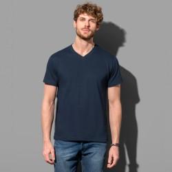 T-shirt col V tubulaire coton doux 155 grs-m2 Classic-t homme Stedman