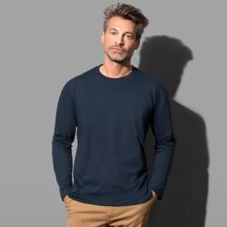 T-shirt manches longues col rond coton doux 155 grs-m2 Classic-t homme Stedman