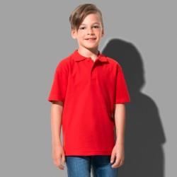 Polo manches courtes coton col 2 boutons ton sur ton 170 grs-m2 enfant Stedman