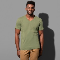 Tee-shirt col V coton peigné 160 grs-m2 Ben homme Stedman