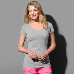 Tee-shirt col rond ample près du corps coton peigné 145 grs-m2 Megan femme Stedman