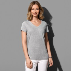 Tee-shirt col V coton polyester 145 grs-m2 Lisa femme Stedman
