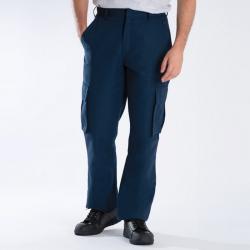 Pantalon de travail multipoches droit braguette zipée 65-35 polycoton 195 grs-m2 Cargo homme Alexandra