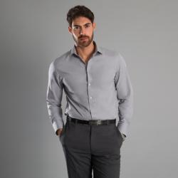 Chemise manches longues coupe ajustée 55-45 coton-polyester 100 grs-m2 homme Alexandra