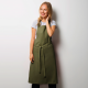 Tablier long à bavette sans poche 65-35 polyester-coton 195 grs-m2 Alexandra