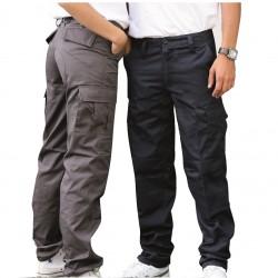 Pantalon treillis taille ajustable bas resserable empiècements fesses polycoton 230 grs-m2 BDU unisexe Parks