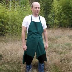 Tablier à bavette de jardin avec protection genoux et devant refendu pour s'agenouiller XTJ X-