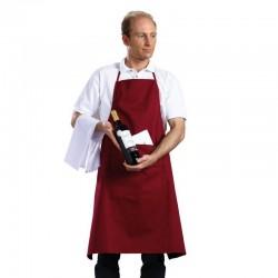 Tablier Sommelier coton 230 grs-m2 long 88 cm résistant et absorbant lie coulissante Prestige XG X-fit