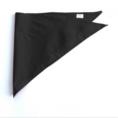 Bandana foulard triangle en pur coton uni non allergène Feria unisexe Serie-Graffic
