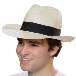 Chapeau de paille naturelle claire et légère publicitaire Classic unisexe SCHCH Serie-Graffic