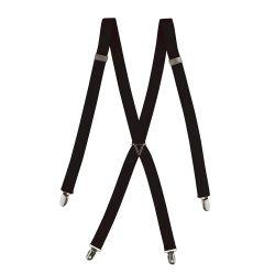 Bretelle de pantalons daccueil à pinces métal ajustables à dos croisé unisexe Alexandra