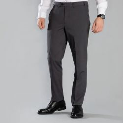 Pantalon de costume sans pince et extensible ceinture élastiquée anti-tâches lavable en machine Icona homme Alexandra