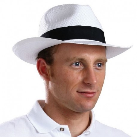 Chapeau Panama blanc très souple aéré et léger en cellulose unisexe SPANH Serie-Graffic