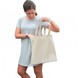 Sac Tote bag en pur coton 140 grs-m2 renforcé hxl-42x38cm anses 62 cm Shopping SSC Serie-Graffic