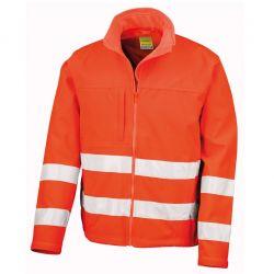 Veste softshell haute visibilité 3 couches imperméable et micropolaire polyester 310 grs-m2 classe 2 unisexe Result