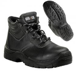 Chaussure sécurité haute S3 cuir noir embout acier 1,44 kg Roma unisexe 21MSS1301 Herock