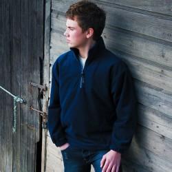 Sweat polaire épais col zippé poches latérales 330 grs-m2 adolescent (10 à 14 ans) Result