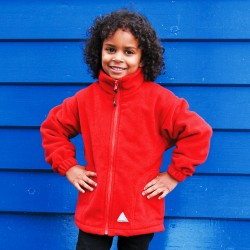 Veste polaire épaisse zippée poches latérales 330 grs-m2 enfant (3 à 10 ans) Result