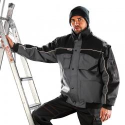 Blouson de travail matelassé à manches amovibles multipoches chaud et robuste polyester unisexe R071X Result