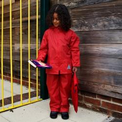 Ensemble pluie veste + pantalon ciré étui polyester 190T enduit enfant (3 à 12 ans) Result