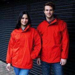Veste reversible capuche imperméable polyester 200 grs-m2 et polaire 280 grs-m2 unisexe R160X Result