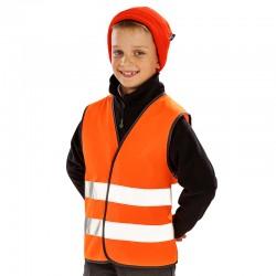 Gilet sans manche de sécurité haute visibilité polyester 120 grs-m2 enfant (4 à 12 ans) R200J Result