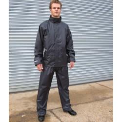 Ensemble de pluie imperméable 2 grandes poches polyester Rain Suit unisexe Result