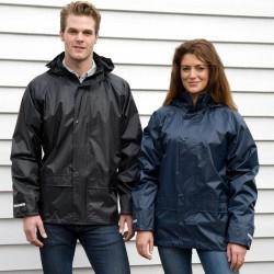 Veste ciré de pluie à capuche imperméable grande poches polyester enduit PVC Rain unisexe Result