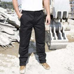 Pantalon de travail à zip multipoches stretch renforcé de polycoton élasthanne 290 grs-m2 Sabre unisexe Result