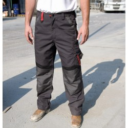 Pantalon de travail multipoches avec renforts à genouillères et zip 65-35 polycoton 270 grs-m2 unisexe R310X Result