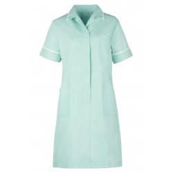 Blouse robe infirmière avec fermeture éclair et pli daisance dans le dos polyester 195grs-m2 femme D312 Alexandra