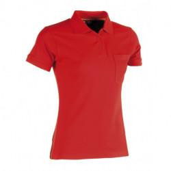 Polo de travail manches courtes 3 boutons poche poitrine 65-35 polyester-coton 210 grs-m2 Freya femme Herock
