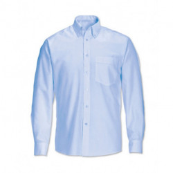 Chemise Oxford manches longues coupe droite 70-30 coton-polyester 125 grs-m2 homme Alexandra