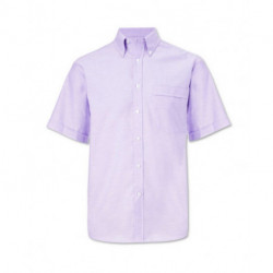 Chemisette Oxford manches courtes coupe droite 70-30 coton-polyester 125 grs-m2 homme Alexandra