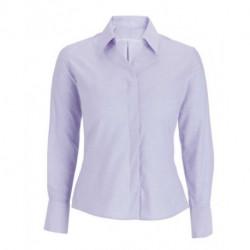 Chemise Oxford manches longues coupe semi cintrée 70-30 coton-polyester 125 grs-m2 femme Alexandra