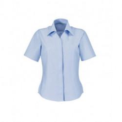 Chemisier Oxford manches courtes coupe semi cintrée 70-30 coton-polyester 125 grs-m2 femme Alexandra