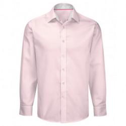 Chemise manches longues coupe ajustée avec contrastes 100% coton facile à repasser Cadenza homme Alexandra