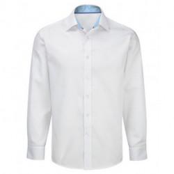 Chemise manches longues coupe ajustée avec contrastes 100% coton facile à repasser Cadenza homme NM84 Alexandra
