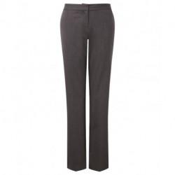 Pantalon de tailleur coupe classique extensible à ceinture élastiquée 54% polyester 44% laine Cadenza femme Alexandra