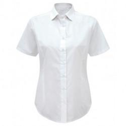 chemisette manches courtes uni coupe cintrée 65-35 polycoton 100 grs-m2 femme Alexandra
