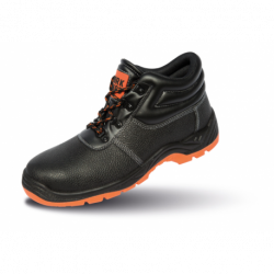 Chaussures de sécurité hautes SP1 embout et semelle acier absorbe les chocs dessus cuir Defence unisexe Result